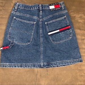Vintage Tommy Hilfiger Denim Mini Skirt Size 10